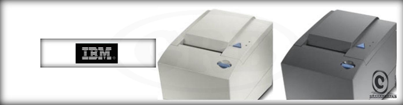IBM kvittoskrivare kvittorullar