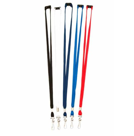 Lanyard, 10 mm, Roterbar krok, platt säkerhetsknäppe
